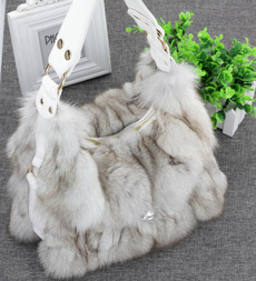 Shoulder Bags, fur, Fox, shoulder purse