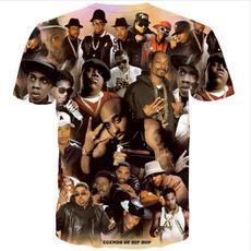 Hip Hop, Plus Size, Shirt, 3danimalcartoontshirt