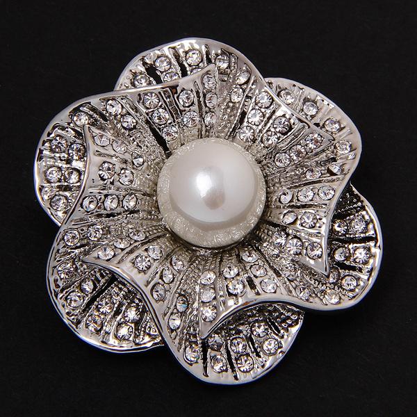 Flowers, Jewelry, pearls, crystalbrooch