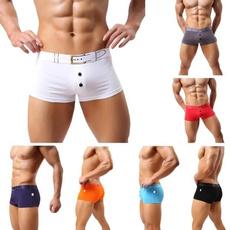 waistbeltwithbuckleprintedboxer, sexy underwear, Underwear, mens underwear