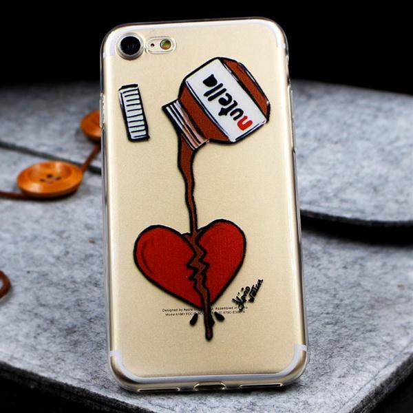 Nutella Transparent Soft TPU Peanut butter Coque For iPhone X 8 4 4S 5 5S 5C 6 6S 7 Plus For Samsung Galaxy J2 J3 J5 J7 S5 S6 S7 Edge S8 S9 Plus A3 A5 ...