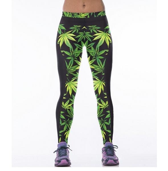 leaves, Leggings, sport legging, 3dprintlegging
