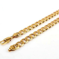 trendy necklace, yellow gold, Chain Necklace, Chain