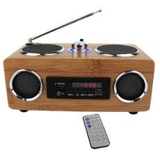 woodbamboospeaker, portableamfmradio, Bass, giftsforgrandfather