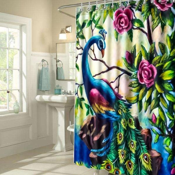 peacock, Bathroom, bathroomdecor, Home Decor
