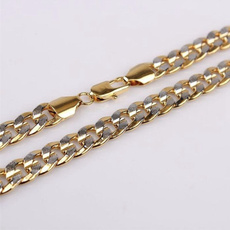 trendy necklace, whiteyellow, Chain Necklace, Jewelry