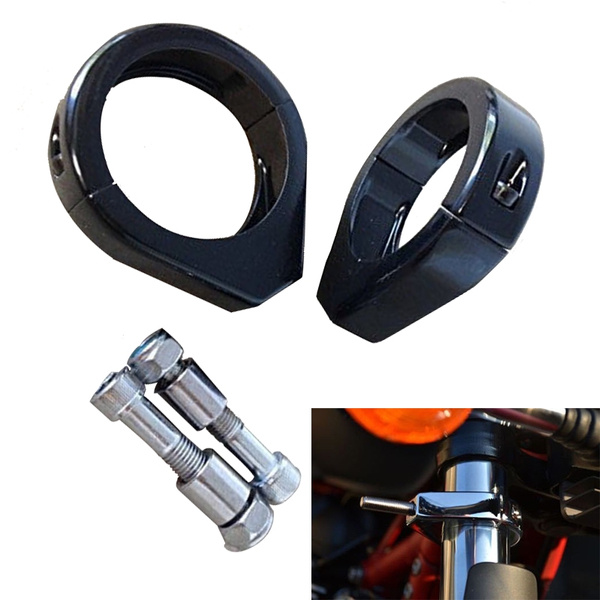 motorcycleaccessorie, blackturnsignalclamps49mm, Star, blackturnsignalclampsmount