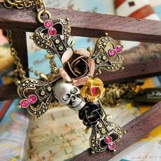 steampunknecklace, skullnecklace, Fashion, Jewelry