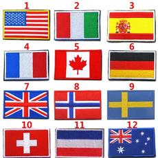 Backpacks, national, flagpatche, irononpatche