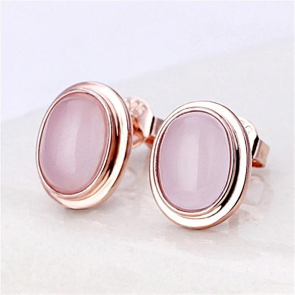 Sterling, quartz, Silver Earrings, Stud Earring