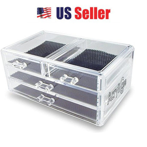 Box, clearmakeuporganizer, acryliccosmeticorganizer, makeup brush holder