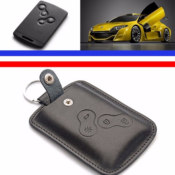 Car Leather Key Cover Case for Clio Scenic Megan