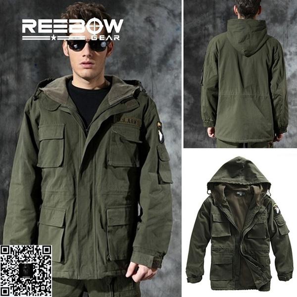 armygreen, Fleece, Outdoor, Winter