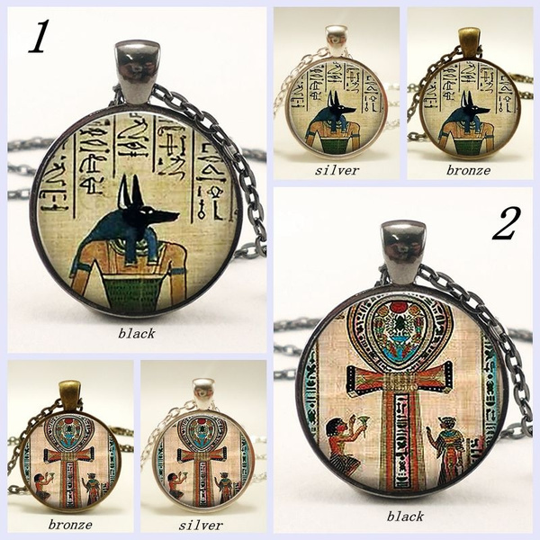 egyptianglassnecklace, yogapendantnecklace, Goth, Jewelry
