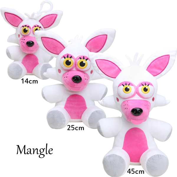 14cm 25cm 45cm Fnaf Five Nights At Freddy S Exclusive White Foxy Mangle Plush Toy Wish