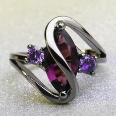 Couple Rings, Cubic Zirconia, crystal ring, wedding ring