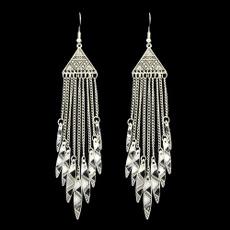ethnicearring, Tassels, tasselchainearringsforwomen, Jewelry