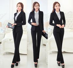 Plus Size, women pants suit, Office, pants
