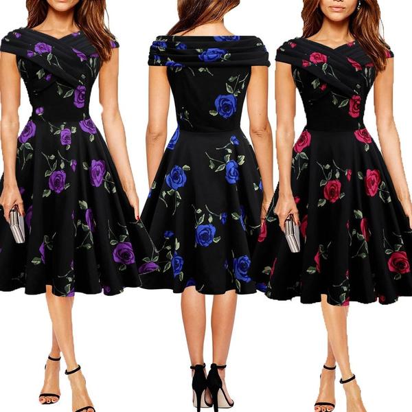Summer, Flowers, pleated dress, flower print dress