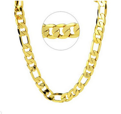 Heavy, yellow gold, Chain Necklace, Gifts For Men