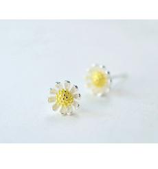 Flowers, daisyflowerearring, Sunflowers, Stud Earring