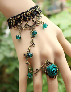 adjustablering, blackroselacebraceletwithchain, Chain, lacenecklace