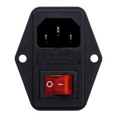 fuseswitch, Pins, inletmalepowersocket, switchfuse