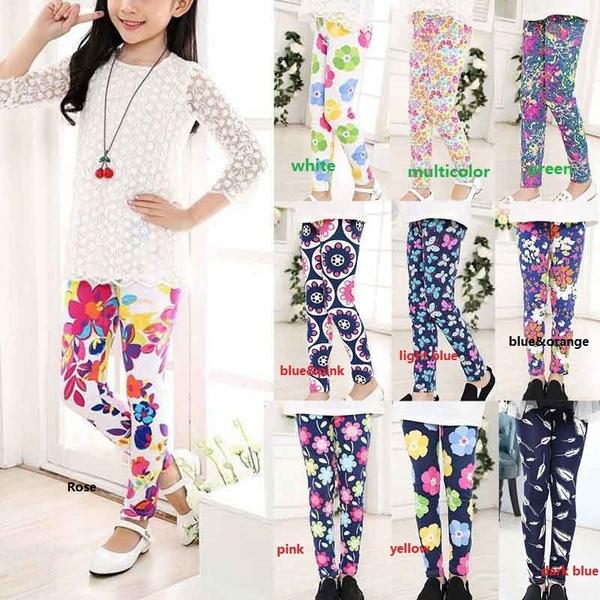 Baby Girl, Floral print, Casual pants, pants