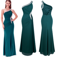 one shoulder dress, Dresses, Dress, Beading