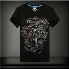 Summer, fashionmenblouse, Fashion, Cotton T Shirt