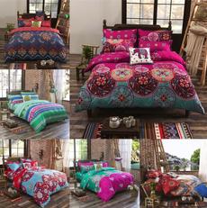 queensizebeddingset, mandala, Cotton, Home Decor