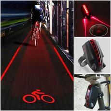 redlamp, Bicycle, ledrearlight, Laser