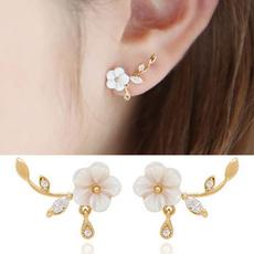 shellflowerearring, Crystal, Fashion, Jewelry