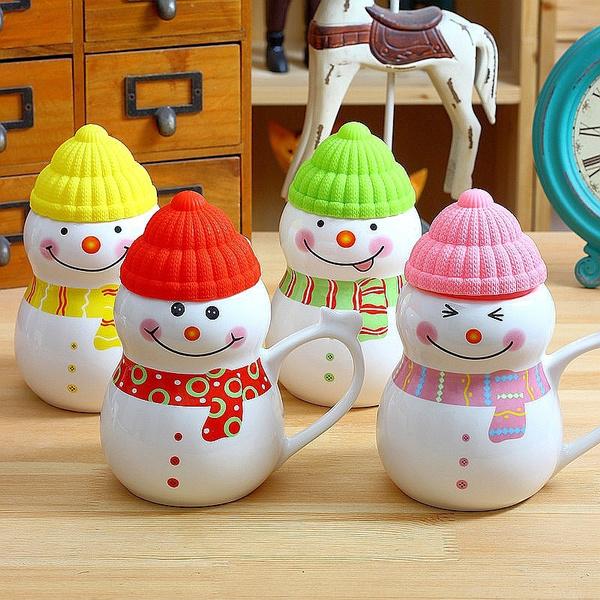 snowman, Décoration, Cadeaux, Cup
