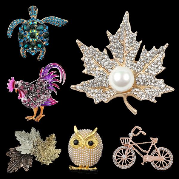 Turtle, Owl, Jewelry, Pins