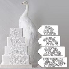 peacock, weddingsstencil, diycaketool, Tool