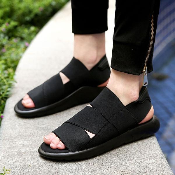 Open-toed Leather Sandals Men Sandals