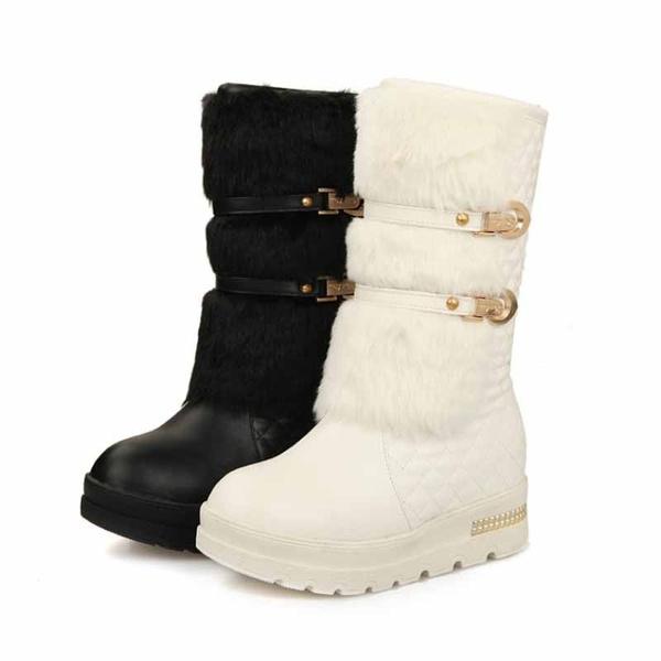 wedge, heeled, fur, Winter