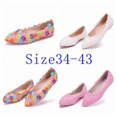 pointedtoeflat, laceweddingshoe, flatshoesforwomen, Flats shoes