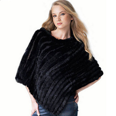 knitted, shawl and wraps, Fashion, fur