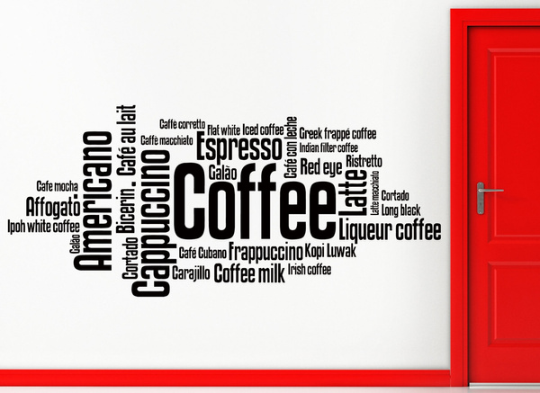 walldecorfortravel, Coffee, Home & Living, Stickers