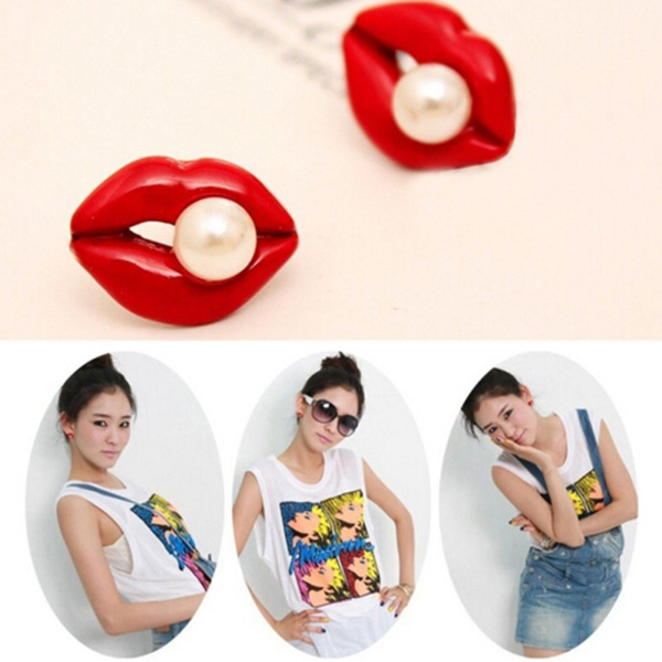Heart, Fashion, 1pair, Lipstick