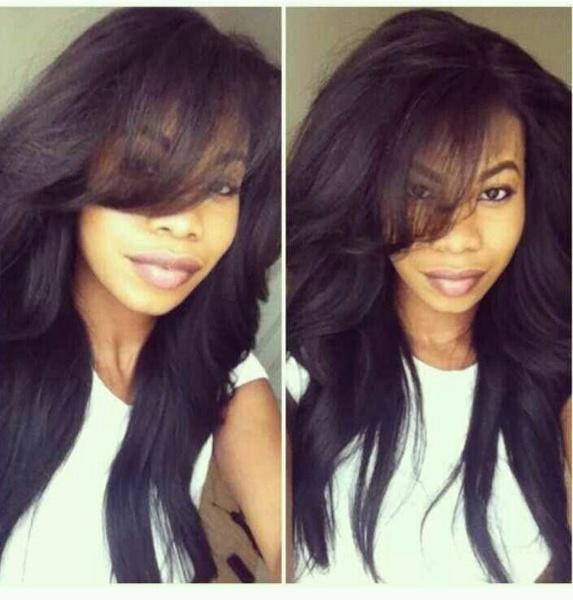 Black wig, wig, heatresistantwig, Straight Hair