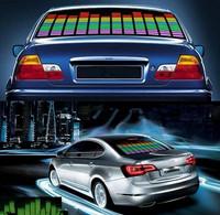 GOLDEN2STAR LED Lamp Light Blue Car Music Rhythm Sticker Sound Activated Equalizer 90x25cm