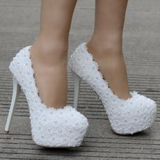 laceweddingshoe, Lace, thinheelspump, pumpsshoeswomen