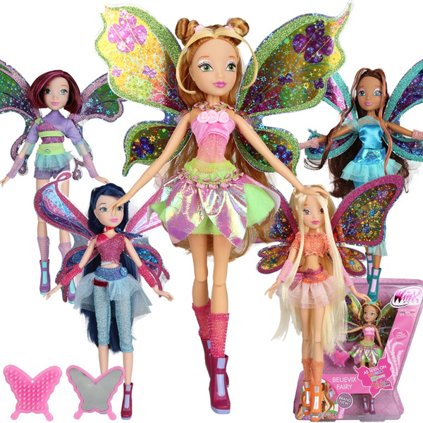 Believix Fairy Winx Club Colorful Girl Fairy Bloom Dolls Wish