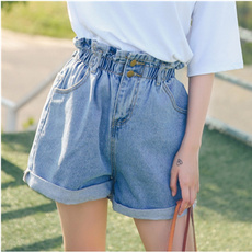 Women Pants, Summer, elastic waist, casualshort