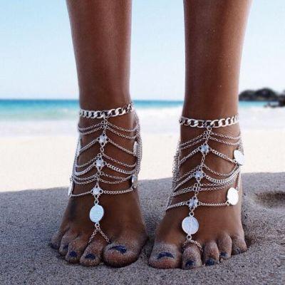 annklet, Bracelet, Tassels, barefoot