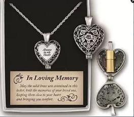 Heart, keepsakependantsashe, urnsnecklace, heart necklace