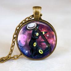 umbreonpokemonjewelry, pokemonballnecklace, umbreonpendant, Jewelry